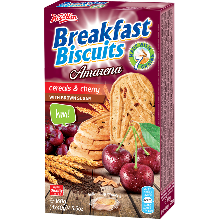 Breakfast biscuits - Cereals & Cherry