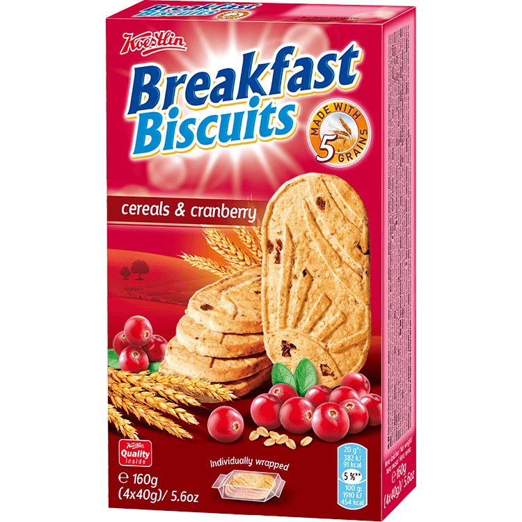 Breakfast biscuits - Cerals & Cranberry