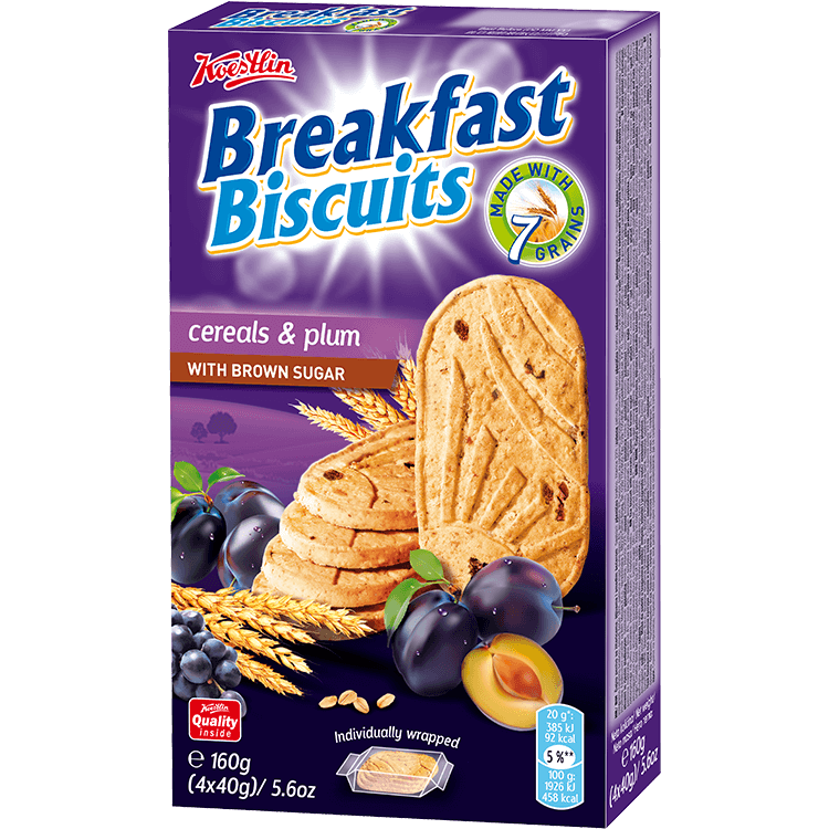 Breakfast biscuits - Cereals & Plum