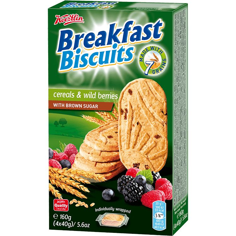Breakfast biscuits - Cereals & wild berries