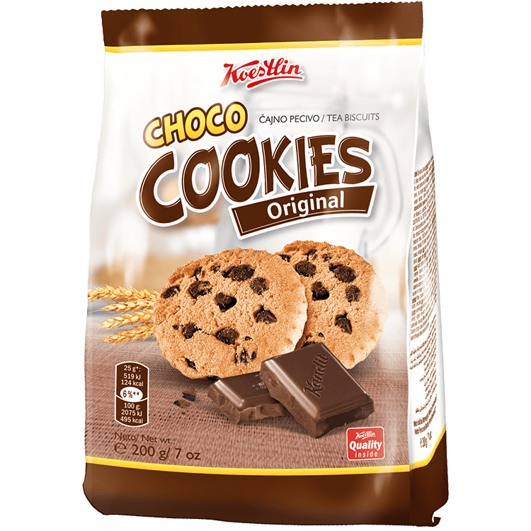 "Choco cookies Original (''Biscotti al cioccolato originali"")"