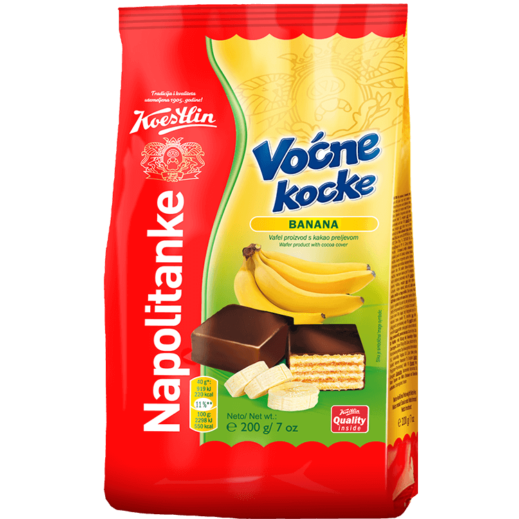 Napolitanke Voćne kocke banana